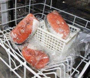 LE LAVE-VAISSELLE CUISEUR dans Ecolo saumon-au-lave-vaisselle-300x262