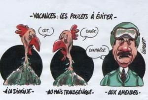 poulet humour